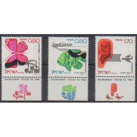 Israël - 1975 - No 591/593 - Environnement