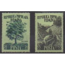 Romania - 1956 - Nb 1451/1452 - Trees