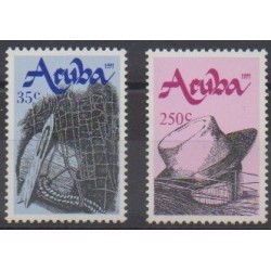 Aruba (Netherlands Antilles) - 1991 - Nb 95/96 - Craft