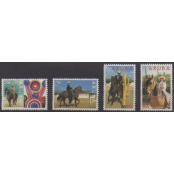 Aruba (Netherlands Antilles) - 1995 - Nb 156/159 - Horses - Various sports