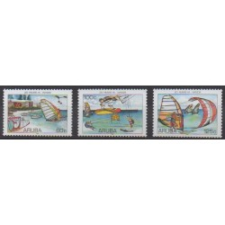 Aruba (Netherlands Antilles) - 2006 - Nb 372/374 - Boats - Various sports