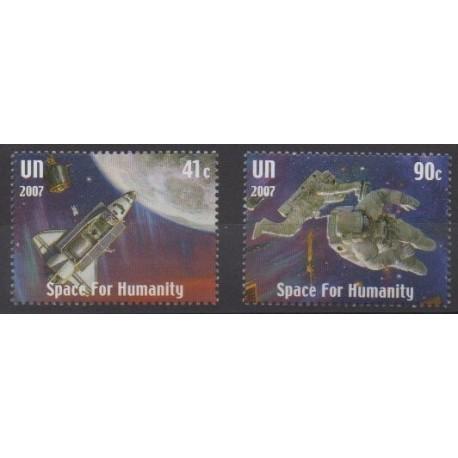 Nations Unies (ONU - New-York) - 2007 - No 1054/1055 - Espace