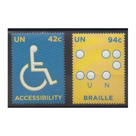 Nations Unies (ONU - New-York) - 2008 - No 1075/1076