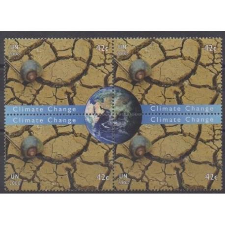 Nations Unies (ONU - New-York) - 2008 - No 1082/1085 - Environnement