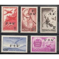 Monaco - Poste aérienne - 1945 - No PA8/PA12