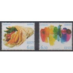 Estonia - 2005 - Nb 489/490 - Fruits or vegetables - Europa