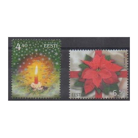 Estonie - 2004 - No 478/479 - Noël
