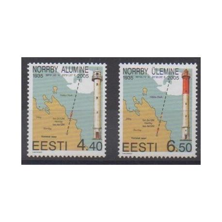 Estonie - 2005 - No 480/481 - Phares
