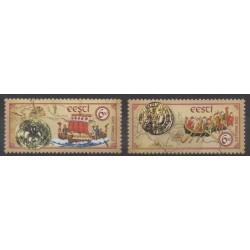 Estonie - 2003 - No 449/450 - Monnaies, billets ou médailles