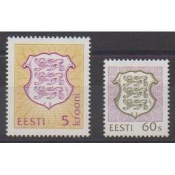 Estonia - 1993 - Nb 224/225 - Coats of arms