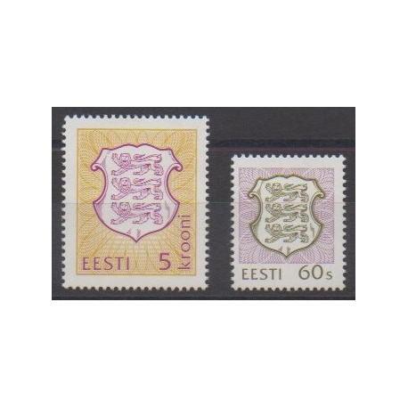 Estonie - 1993 - No 224/225 - Armoiries