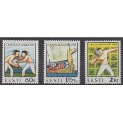 Estonia - 1993 - Nb 221/223 - Various sports