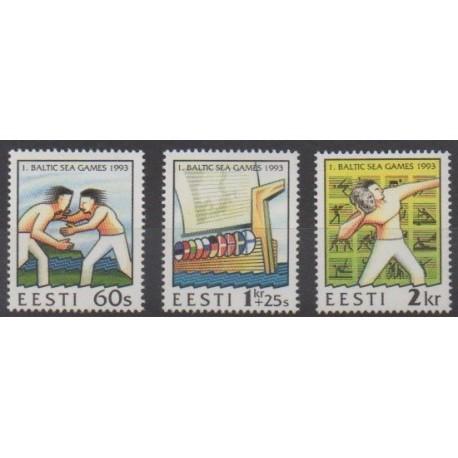 Estonie - 1993 - No 221/223 - Sports divers