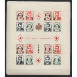 Monaco - Blocks and sheets - 1951 - Nb BF 4B - surchargé - non dentelé - neuf avec charnière