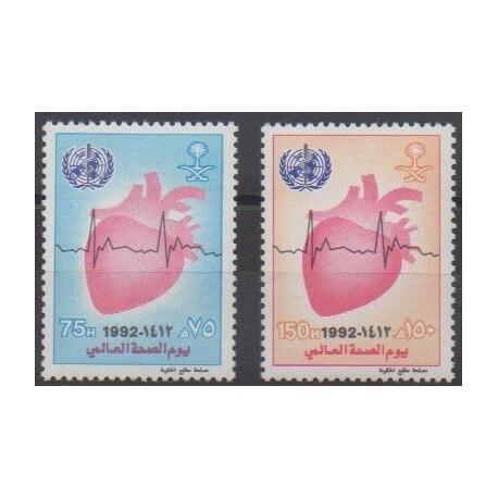 Arabie saoudite - 1992 - No 912/913 - Santé ou Croix-Rouge