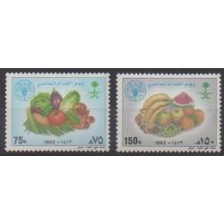 Saudi Arabia - 1992 - Nb 929/930 - Fruits or vegetables