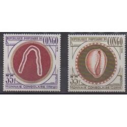 Congo (République du) - 1976 - No 414/415 - Monnaies, billets ou médailles