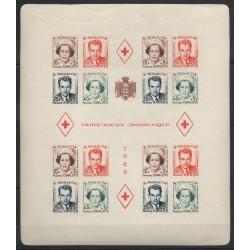 Monaco - Blocs et feuillets - 1949 - No BF 3B - neuf avec charnière - non dentelé