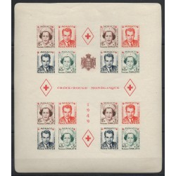 Monaco - Blocks and sheets - 1949 - Nb BF 3B - neuf avec charnière - non dentelé