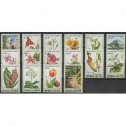 Sierra Leone - 1991 - Nb 1350/1365 - Flowers