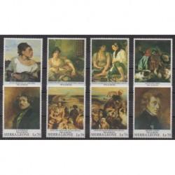 Sierra Leone - 1993 - No 1658/1665 - Peinture