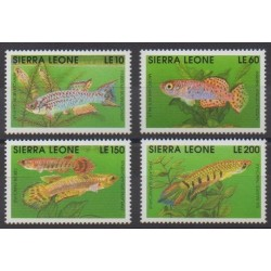 Sierra Leone - 1992 - Nb 1467/1470 - Sea life