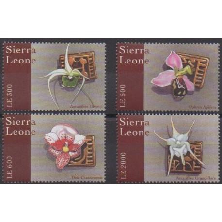 Sierra Leone - 2000 - No 2949/2952 - Orchidées