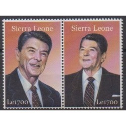 Sierra Leone - 2002 - No 3616/3617 - Célébrités