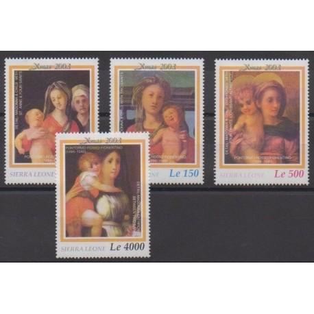 Sierra Leone - 2003 - No 3737/3740 - Noël - Peinture