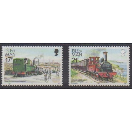 Man (Ile de) - 1991 - No 490/491 - Chemins de fer