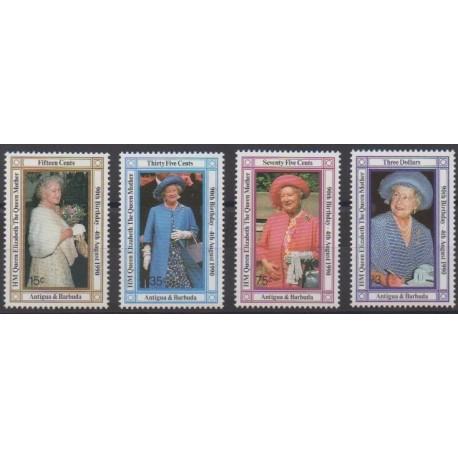 Antigua et Barbuda - 1990 - No 1265/1268 - Royauté - Principauté