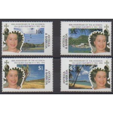 Antigua et Barbuda - 1992 - No 1417/1420 - Royauté - Principauté