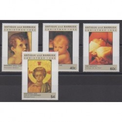 Antigua et Barbuda - 1992 - No 1500/1503 - Noël - Peinture