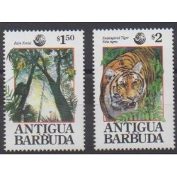 Antigua and Barbuda - 1992 - Nb 1513/1514 - Environment - Endangered species - WWF