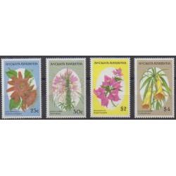 Antigua et Barbuda - 1993 - No 1550/1553 - Fleurs
