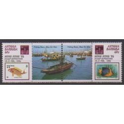 Antigua et Barbuda - 1994 - No 1661/1662 - Navigation - Timbres sur timbres