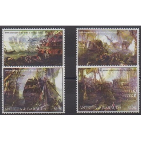 Antigua et Barbuda - 2005 - No 3616/3619 - Histoire militaire - Navigation