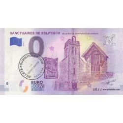Euro banknote memory - 19 - Sanctuaires de Belpeuch avec tampon - 2018-4