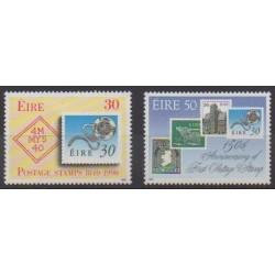 Irlande - 1990 - No 719/720 - Timbres sur timbres