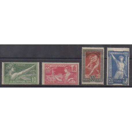 France - Poste - 1924 - No 183/186 - Jeux Olympiques - Neufs avec charnière