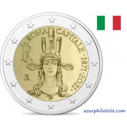 2 euro commémorative - Italy - 2021 - 150th Anniversary of the institution of Rome Capital of Italy - UNC