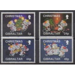 Gibraltar - 1993 - Nb 688/691 - Christmas