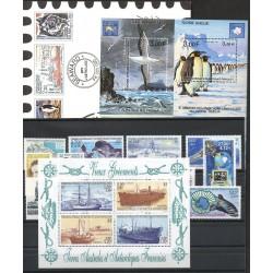 Timbres - Terres Australes et Antarctiques Françaises - Année complète - 2001 - No 287/321 - BF5/BF6 - carnet voyage