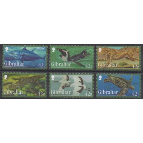 Gibraltar - 2013 - No 1568/1573 - Animaux - Espèces menacées - WWF