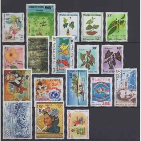 Wallis et Futuna - Année complète - 1996 - No 485/496 - PA191/PA196
