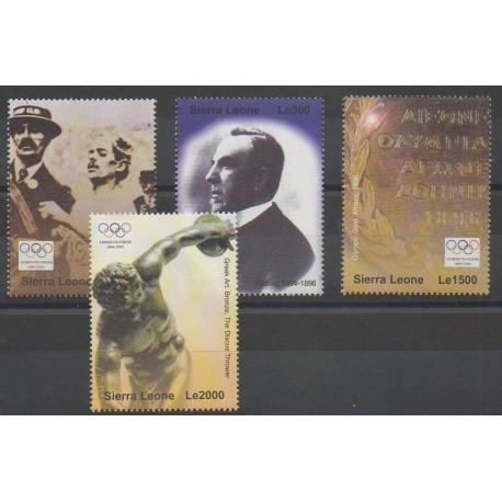 Sierra Leone - 2004 - No 3827/3830 - Jeux Olympiques d'été