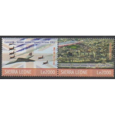 Sierra Leone - 2007 - No 4182/4183 - Aviation