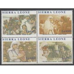 Sierra Leone - 2010 - No 4480/4483 - Religion - Célébrités