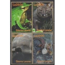 Sierra Leone - 2010 - No 4553A/4553D - Animaux