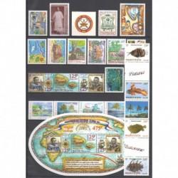 Wallis and futuna - Complete year - 2002 - Nb 565/587 - BF11